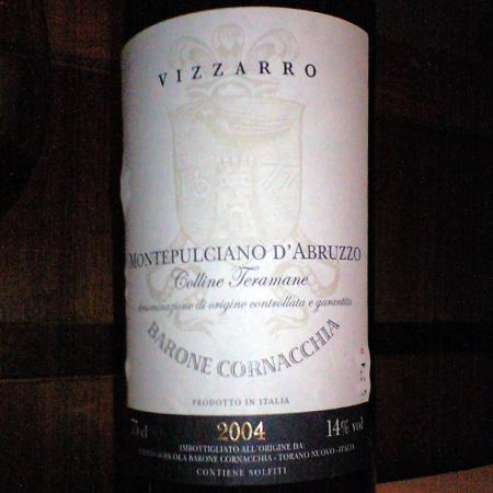 モンテプルチアーノ・ダブルッツォ・コッリーネ・テラマーネ 2004