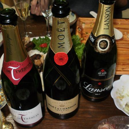 クリスマス シャンパン