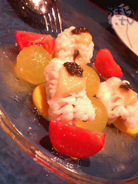 ハモとアローマメロンのサラダ