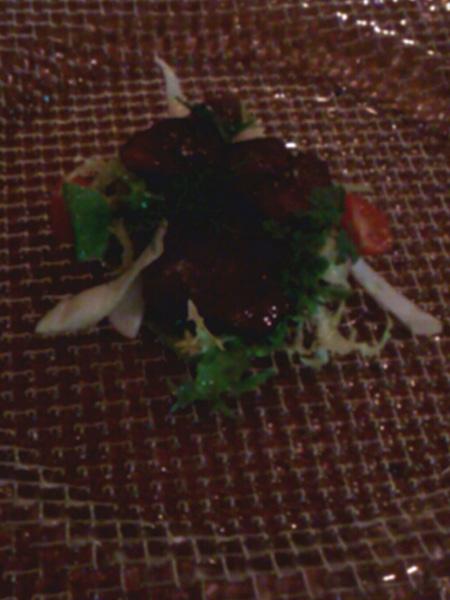 豚舌の炙り 黒胡椒風味サラダ仕立て