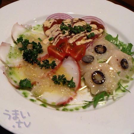 グリル チンチン (Cincin)鮮魚カルパッチョ盛り合わせ1000円