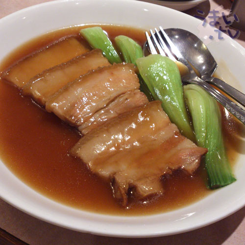 横浜中華街 千禧楼 豚バラ肉の醤油煮込み