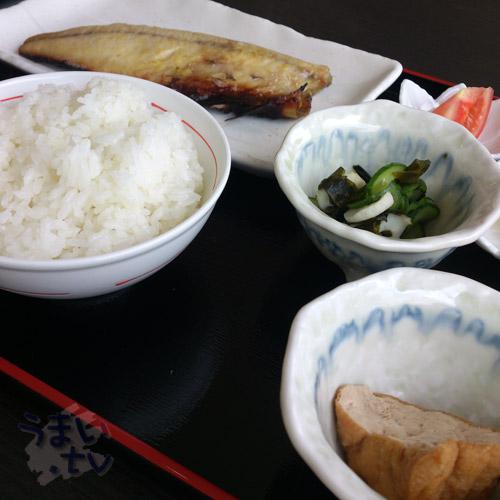 手づくり 定食 むにゅ さばの西京焼き