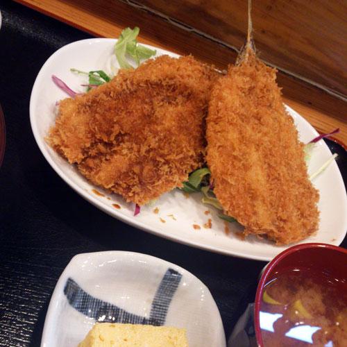 お食事処水仙 「アジフライ定食」 900円