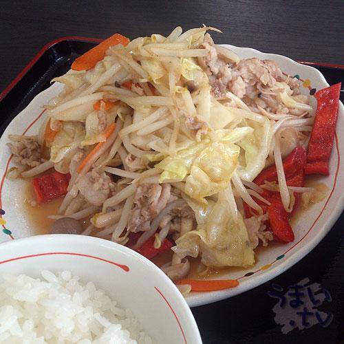 定食むにゅ 肉野菜炒め