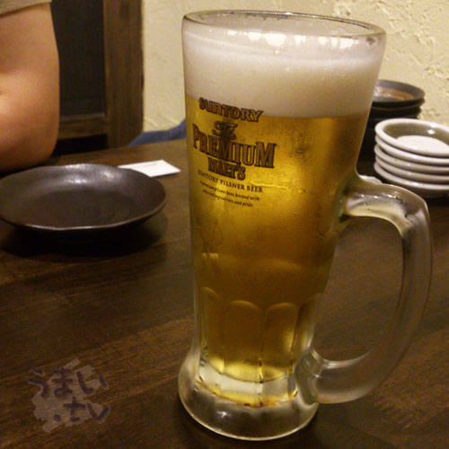 新宿歌舞伎町 魚魚家 プレモル