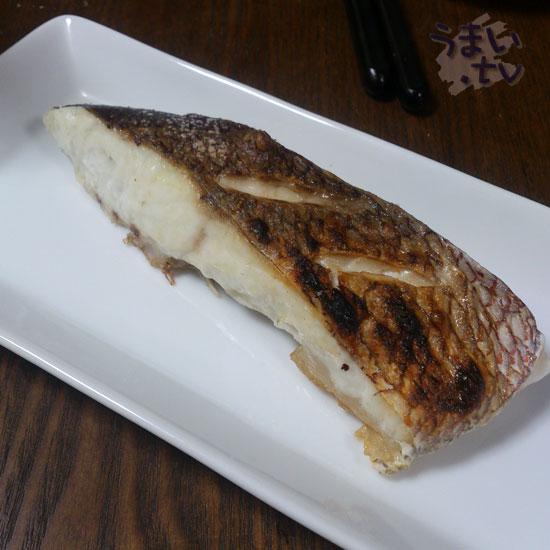 天然真鯛の塩焼き