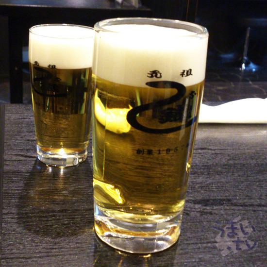 渋谷 元祖 うな鐡 ビール
