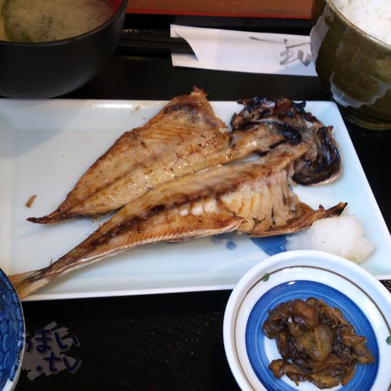 中野新橋 いろは ランチ 焼き魚