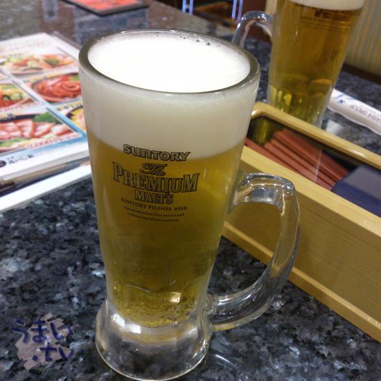 沼津 魚がし鮨 ららぽーと横浜店 ビール