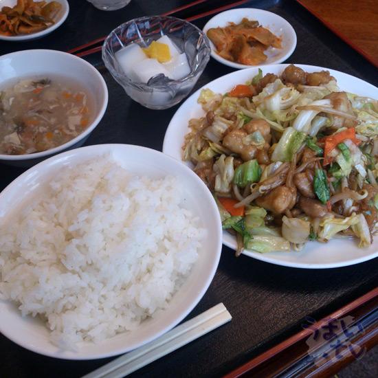 新横浜 清宏楼 鳥肉と野菜の炒めランチ