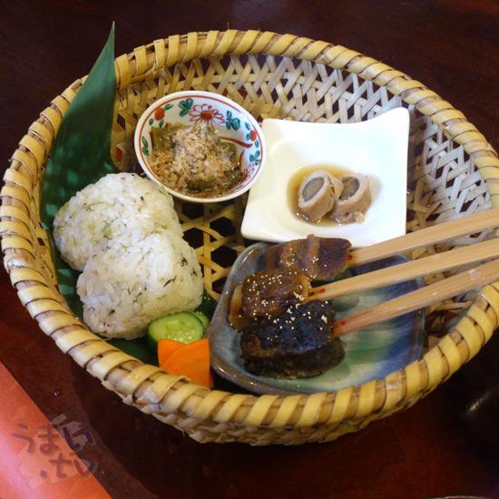 山里の生麩田楽花かご弁当