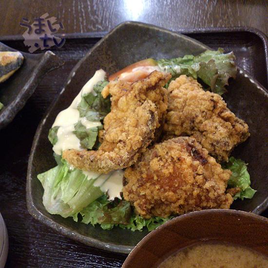 浜の台所 おらが 「鯖焼きとから揚げ定食」 840円