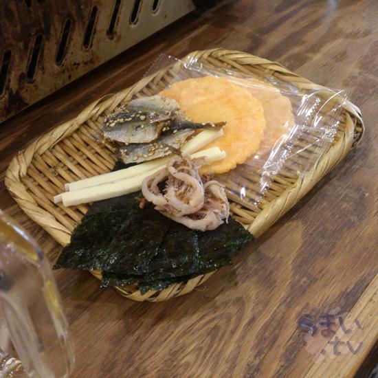 磯丸水産 渋谷宇田川町店 お通し