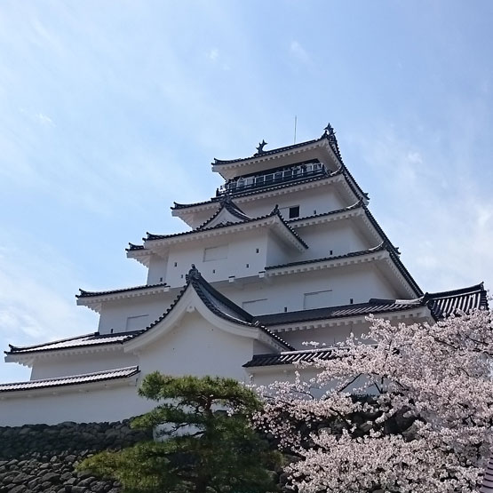 会津鶴ヶ城 桜満開