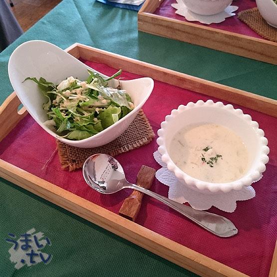 福島 アバンダント サラダ、スープ