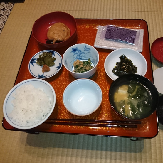 高野山 釈迦文院 精進料理 朝食