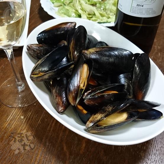 ムール貝ワイン蒸し