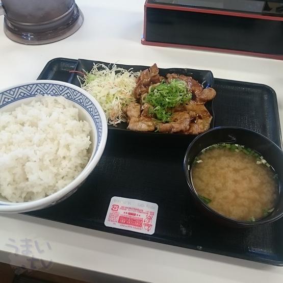 吉野家 ロース豚焼定食十勝仕立て(大)