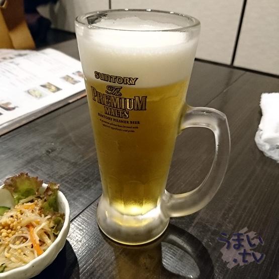 奈良 地場料理とおいしいお酒 KURA 生ビール