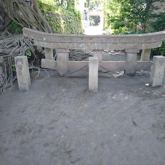 桜島 黒神埋没鳥居