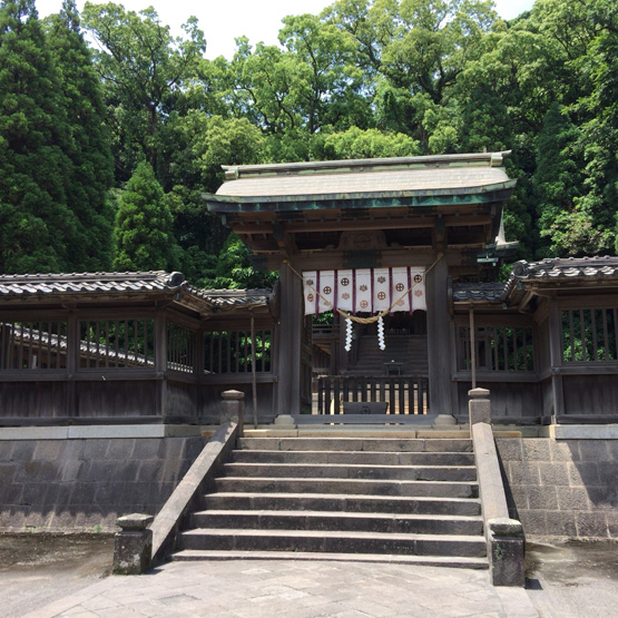 鹿児島仙巌園 鶴嶺神社